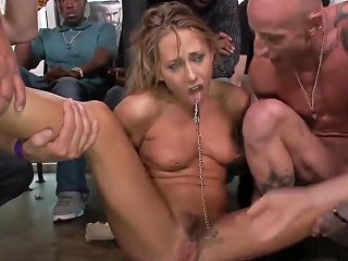 Hairy Blonde Rough Banged In Public
