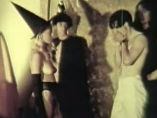 Busty Babes Get Fucked At A Naked Halloween Sex Party Vintage Porn Video