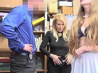 Shoplyfter Granddaughter And Grandma Get Caught Shoplifting Drtuber