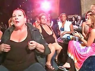 Big Facial For Large Woman At The Stripclub
