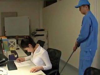Japanese Secretary Imanaga Sana Stayed Late In The Office Any Porn