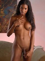 Sweet chocolate tgirl stripping