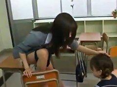 Schoolgirl Drawing Teachers Pussy Getting Her