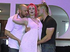 Pink Haired Wild Slut Enjoys A Good Ass Fucking And Cock Sucking