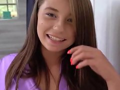 Hottie Step Daughter Carolina Begs Dad To Fill Her Coochie With His Jizz