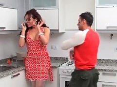 Tranny In A Pretty Dress Sucks Dick In Kitchen