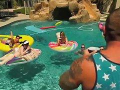 Trans Pool Party Lena Kelly Janelle Fennec Casey Kisses Natalie Mars