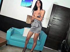 Ladyboy Karn In Silver Dress Bareback Upornia Com
