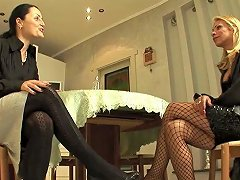 Italian Milf Rents A Blonde Tranny To Bang Her