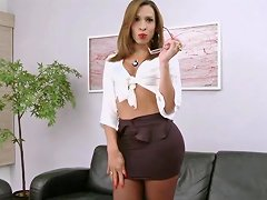 Transsecretary With Huge Cock In Pantyhose Txxx Com