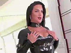 Ts Nina Lawless Dominates Katrina Jades Wet Tight Pussy